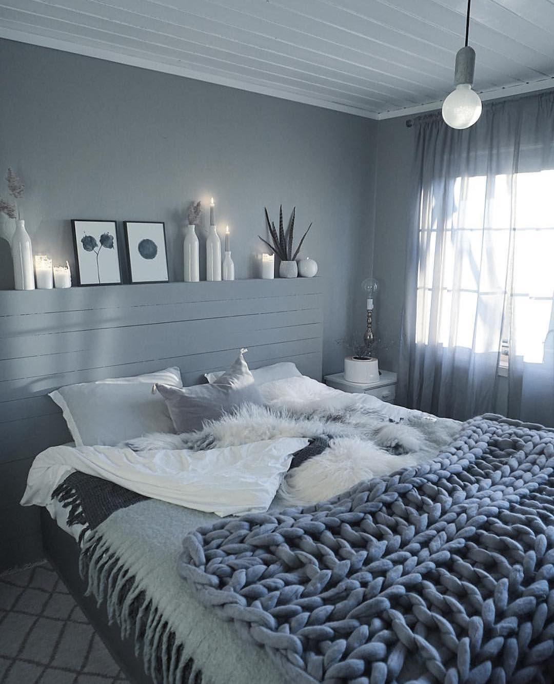 warna cat kamar tidur sempit abu abu | dekorasi kamar tidur di 2019