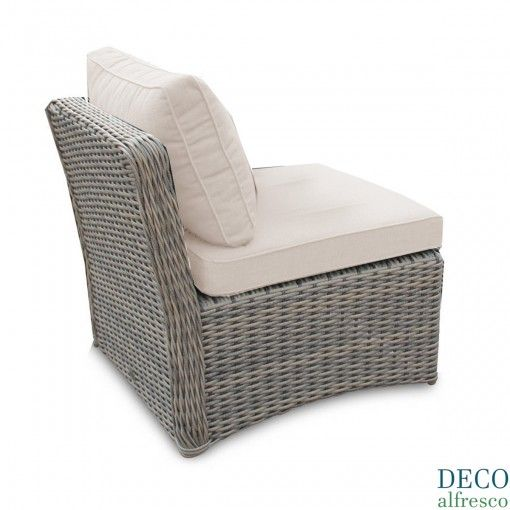 Deco Alfresco London Luxury Tri Weave 1 Seater Side Unit Rattan