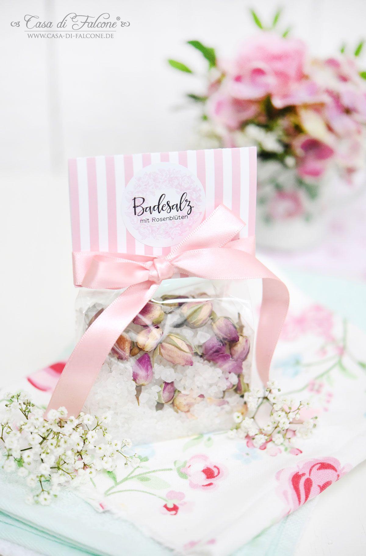 Badesalz mit Rosenblüten I Hochzeit I Gastgeschenk I Casa di