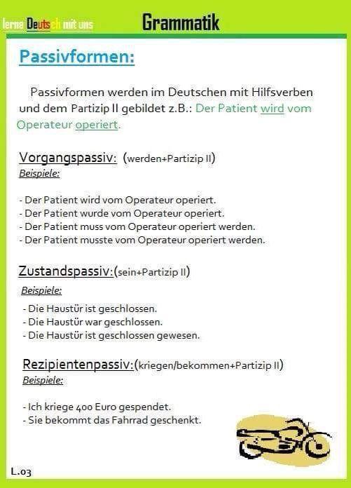 passiv german german grammar german language und deutsch. Black Bedroom Furniture Sets. Home Design Ideas