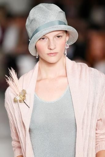b0dfd5377d2 So sweet and feminine...I love the little cloche hat. (Ralph Lauren ...
