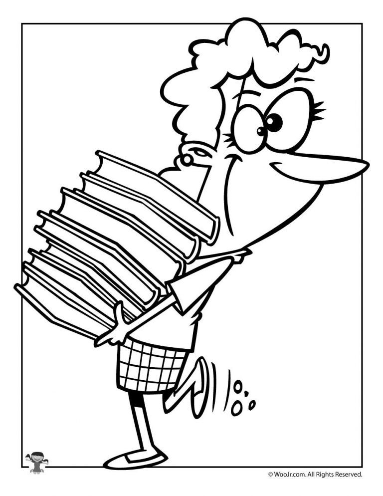 Librarian Coloring Page Coloring Pages Butterfly Coloring Page