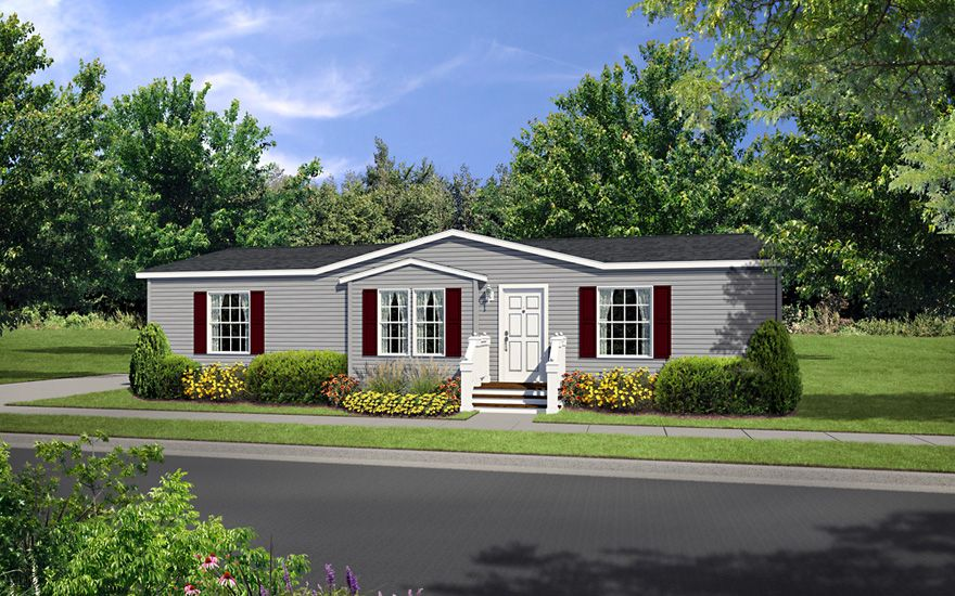 Colona 28 X 48 1280 Sqft Mobile Home Our Topeka In Sales Center Delivers Finely Built Mobile Homes To Indiana I Front Porch Design Mobile Home Porch Design