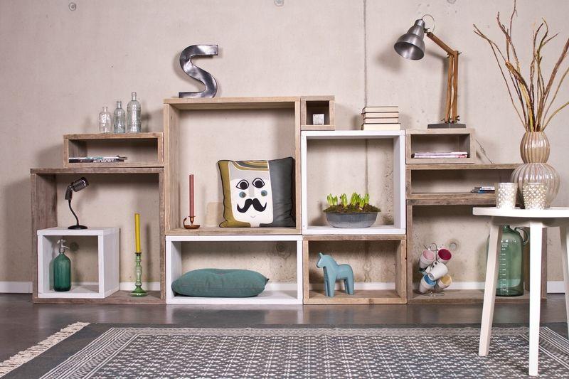 Cube Modulschrank 11 Fächer - 300 cm breit von PURE Wood Design auf DaWanda.com