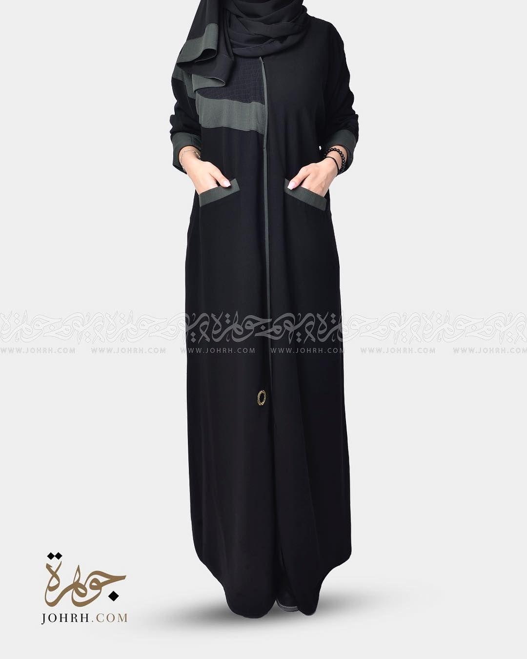 رقم الموديل 1290 السعر 210 ريال عباية أنيقة مطعمه بقماش شاكيرا اسود وقماش اخضر قطني تأتي على شكل نصف دائرة على احد الاكتاف وعلى Fashion Maxi Dress Dresses