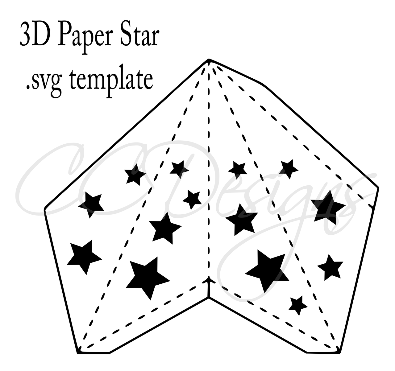 3d Paper Star Templates Diy Paper Star Craft Svg Amp