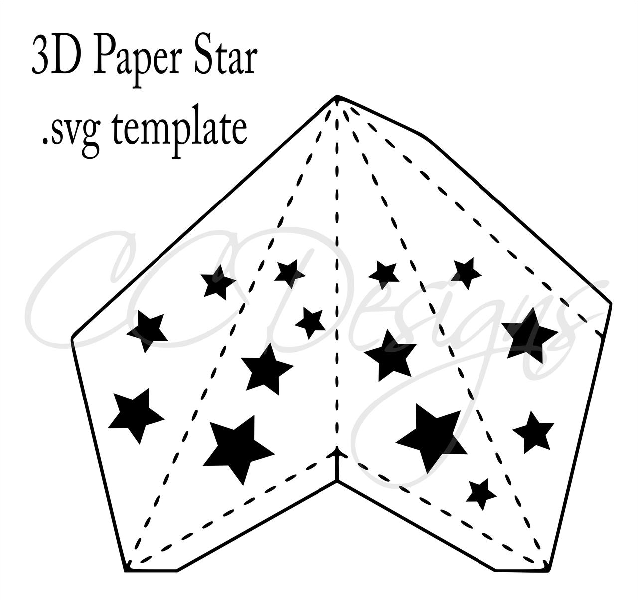 3d Paper Star Templates Diy Paper Star Craft Svg Amp