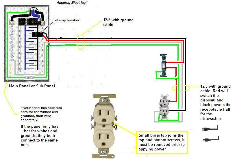 Remarkable How To Wire A Garbage Disposal Justanswer Com Electrical Home Wiring 101 Olytiaxxcnl