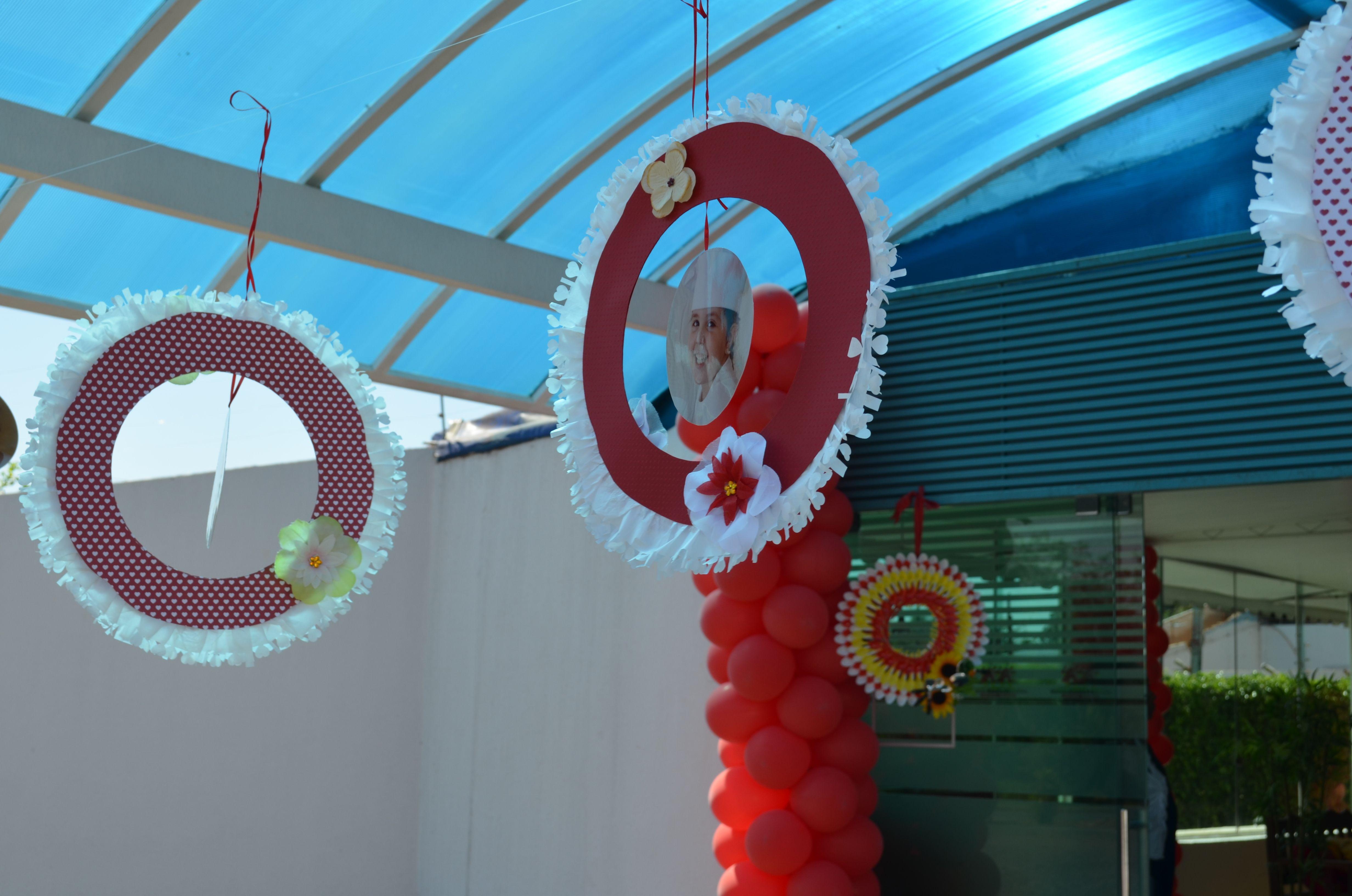 garland na entrada da festa