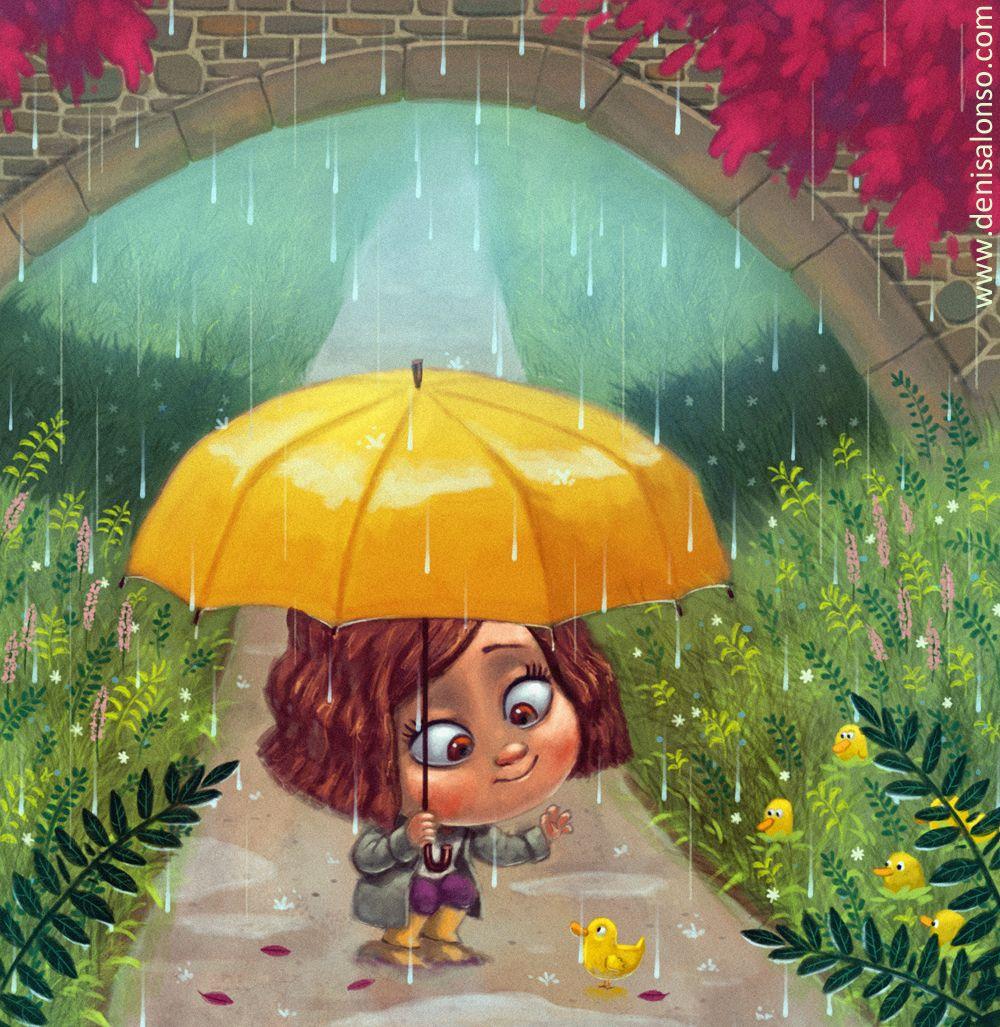 Серии картинок с зонтиками