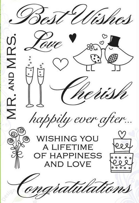 Hero Arts Clear Stamp Set Best Wishes CL360 / Juego by FabricMuse, $7.99