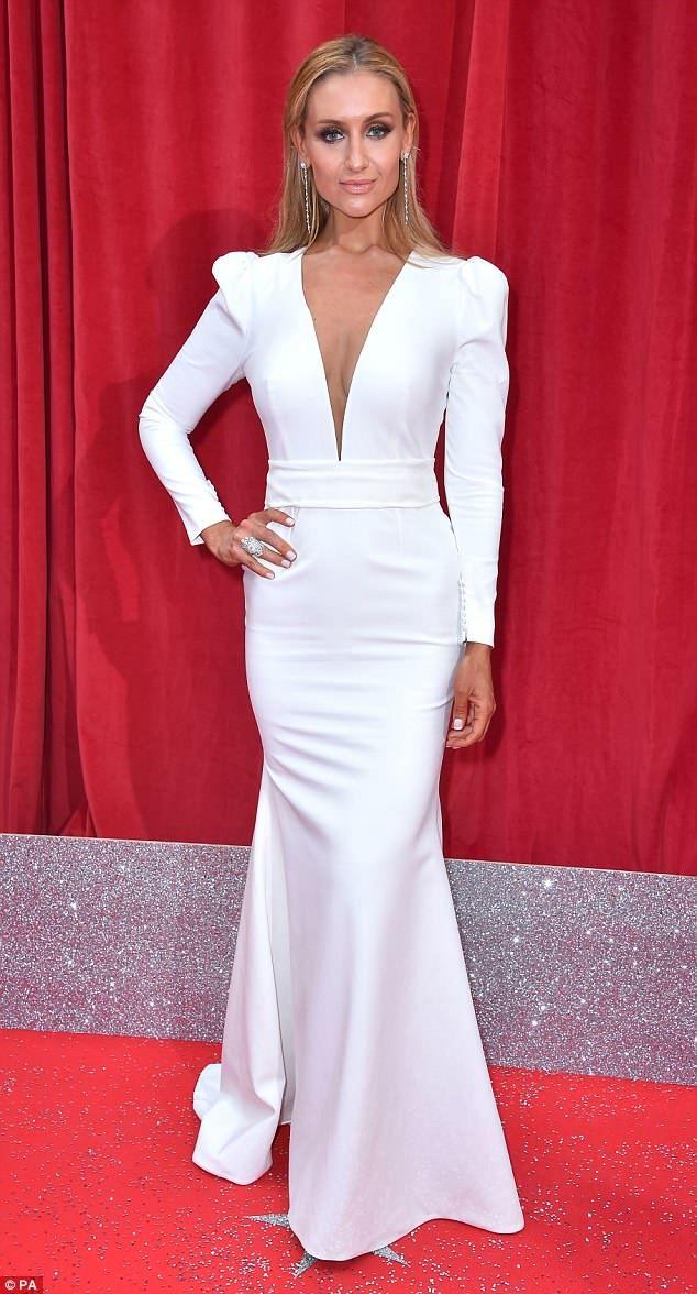 British Soap Awards Catherine Tyldesley wears plunging