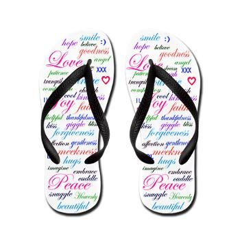6983092e7 Positive Word Cloud Flip Flops  fashion  shoes