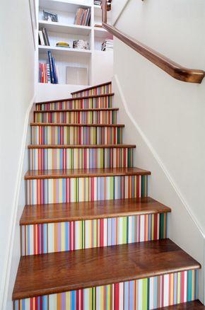 Escaleras pintadas decoracion escaleras Pinterest