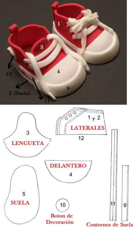 patrones de zapatillas y patucos | Ropa para muñecas | Pinterest ...