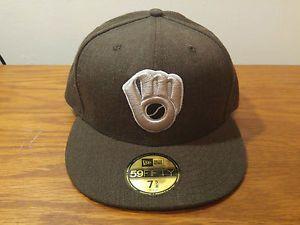 4548bbf1572 New Era 59Fifty Milwaukee Brewers Fashion Hat Cap 7 5 8 MLB Baseball Retro  Logo
