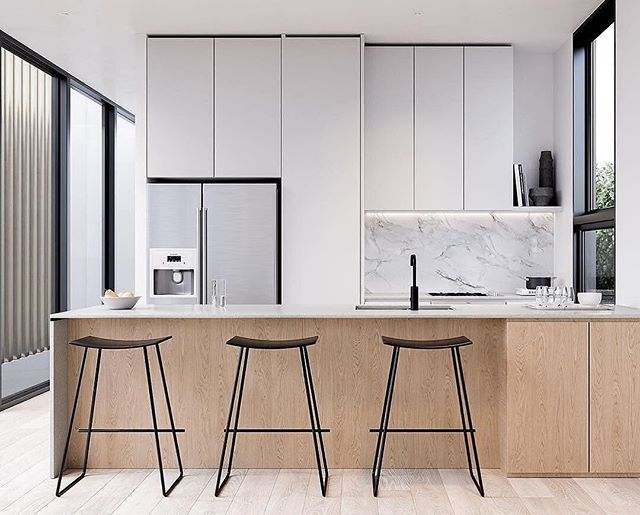 #repost @deco2point0 #welovenew We Love The Minimalist Scandinavian Feel To  This Kitchen. Kitchen InteriorModern KitchensKitchen Decorations ... Pictures