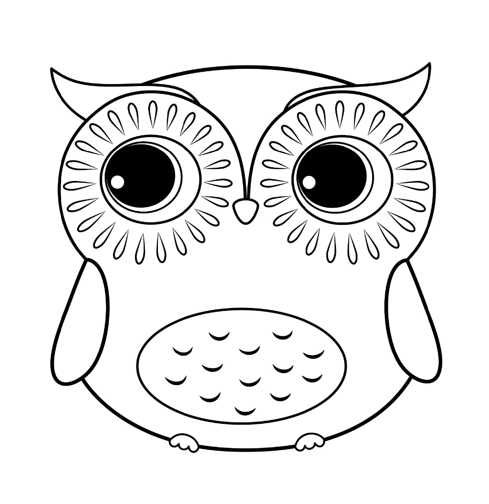 Coloring Book Coloring Pages Cute Owl Printable K5 Extraordinary Free To Print For Kids E Owl Coloring Pages Cartoon Coloring Pages Cute Easy Animal Drawings