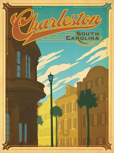 Charleston, SC - After winning international acclaim for creating the Spirit of Nashville Collection, designer and illustrator Joel Anderson set out to create a series of classic travel posters that celebrates the history and charm of America's greatest cities. He directs a team of talented Nashville-based artists to help him keep the collection growing.