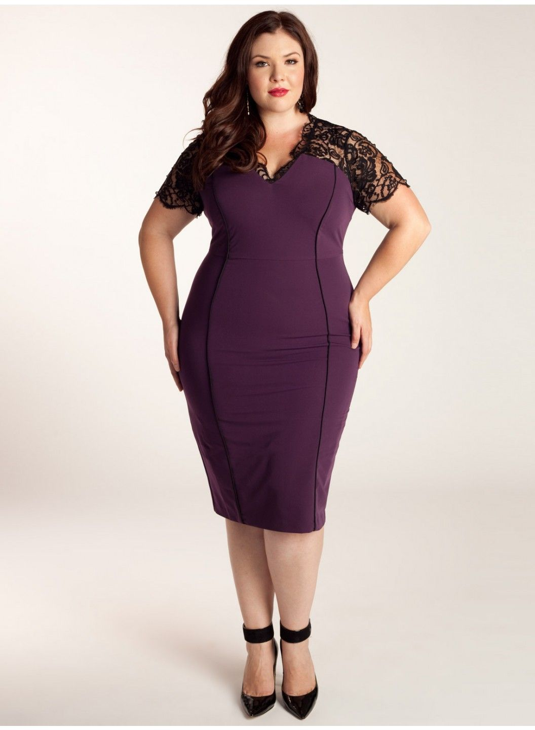Denise Plus Size Dress in Plum | Plus size dresses, Model homes ...