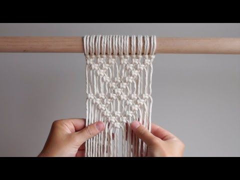 MACRAME SHAPES SERIES - Triangle Pattern #2 Using Square Knots! - YouTube