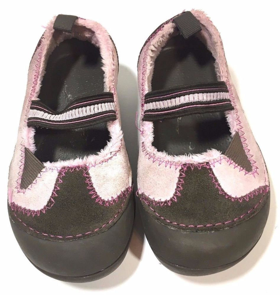 6da008708 Crocs Girls Shoes Pink Brown Croslite Suede Mary Janes Size 11 C Dawson   Crocs  MaryJanes