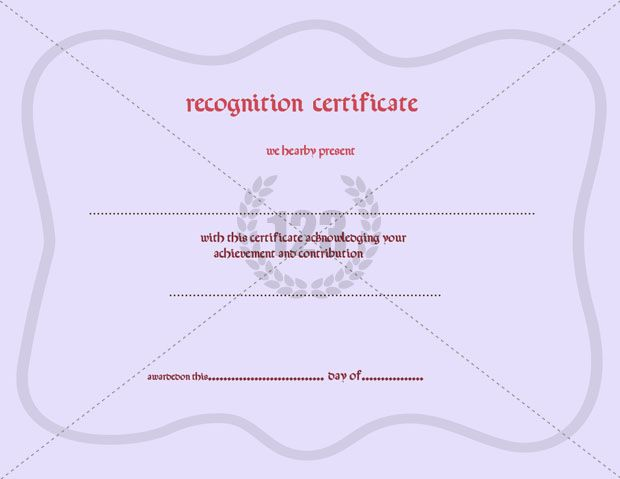 Special Recognition Certificate Templates Available for free - recognition certificate template