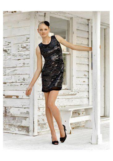 Cheap fashion Sheath/Column Scoop Sequins Cocktail Dress