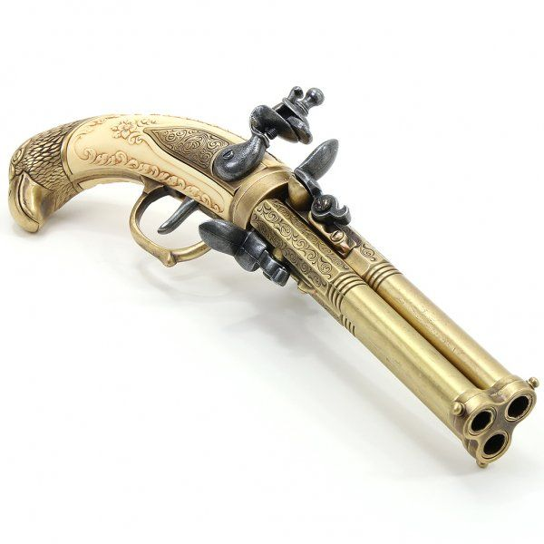 """""""Golden Eagle"""" Triple-Barreled Flintlock Pistol - Asset Store   Triple Barrel Flintlock Pistol"""