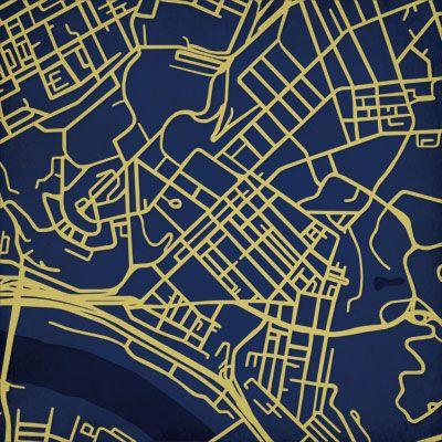 Santa Clara Santa Clara Druck Modern Map Art Carte de Santa Clara