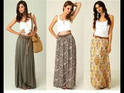 eace53dce012 How to Make a Maxi Skirt in 5min Easy for Beginners Sewing