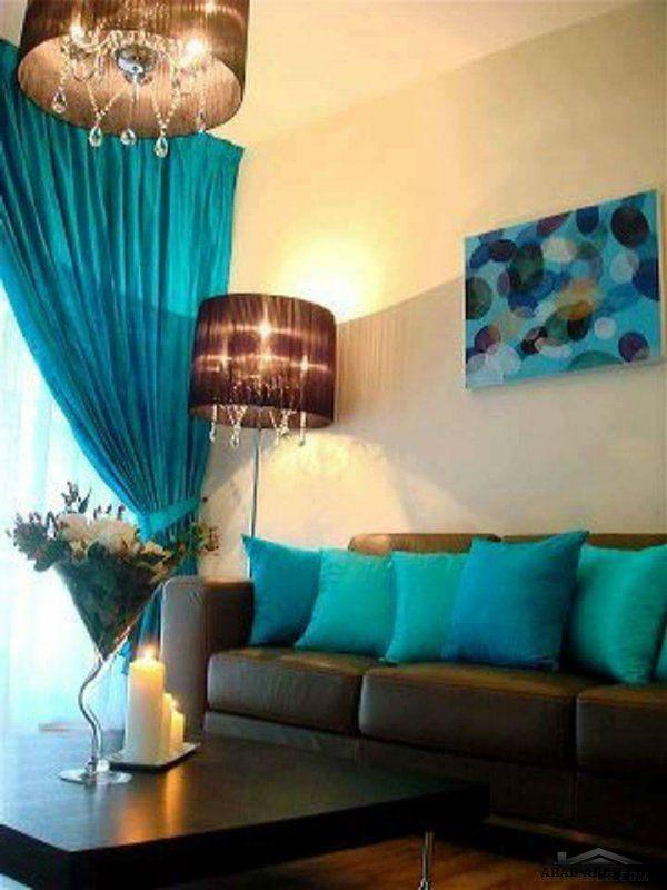 اللون الفيروزي في التصميم الداخلي ابداااع Living Room Home Decor Decor