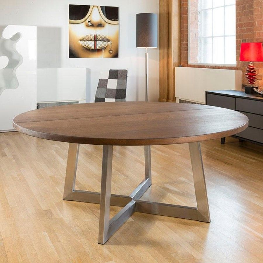 Massive 180cm Dia Luxury Round Dining Table Oak Wood