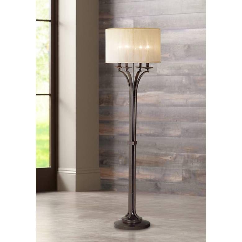 Kathy ireland 65 high pennsylvania country floor lamp