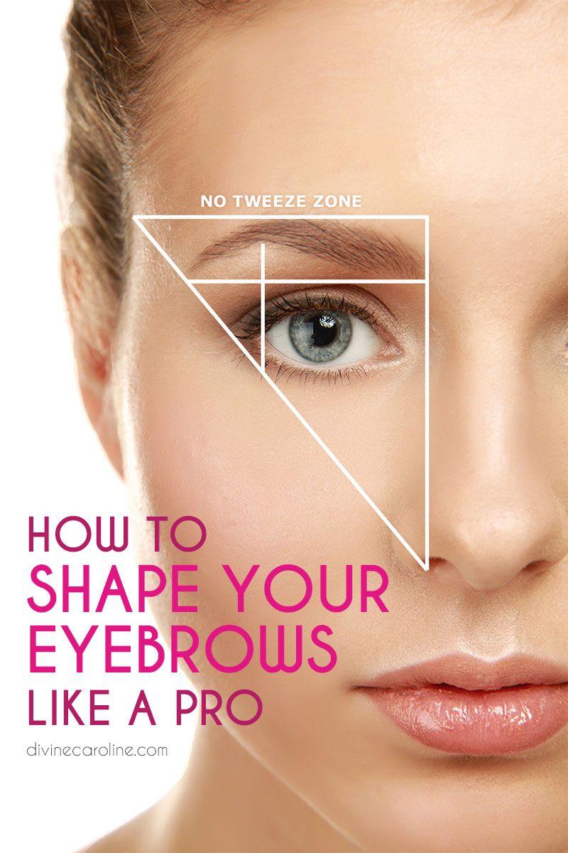 How To Groom Shape Your Eyebrows Like A Pro On Fleek Pinterest