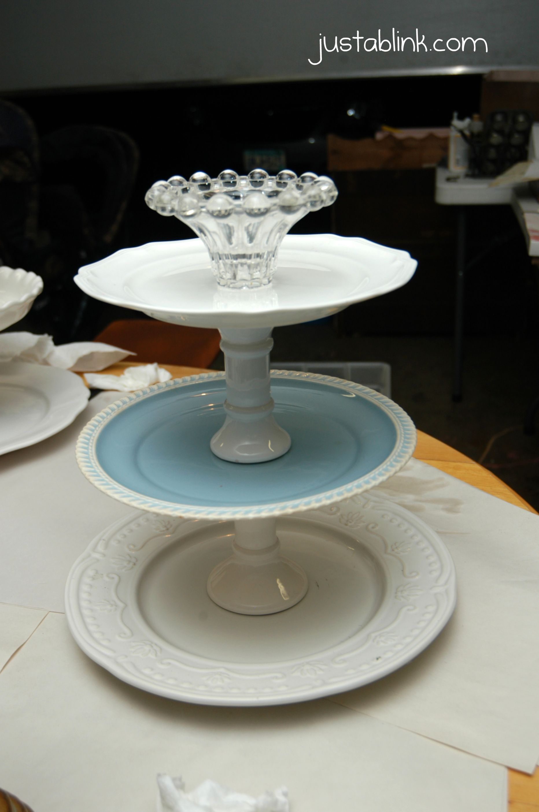 DIY tiered plate stand   Plates, Plate stands, Tiered stand