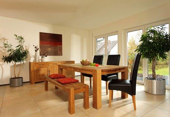 fertighaus wohnidee esszimmer vio 200 - Feuer Modernen Design Rotes Esszimmer
