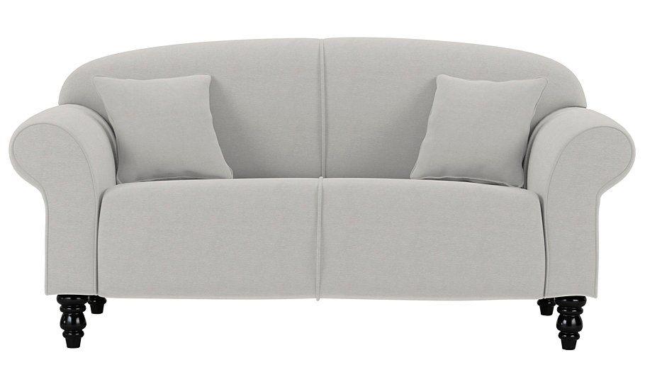 George Home Elliott Compact Sofa In Fine Velvet Olive   Gardens, Shops And  Home