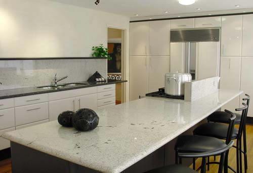 COCINA EN GRANITO BLANCO CRISTAL | Cocinas | Pinterest