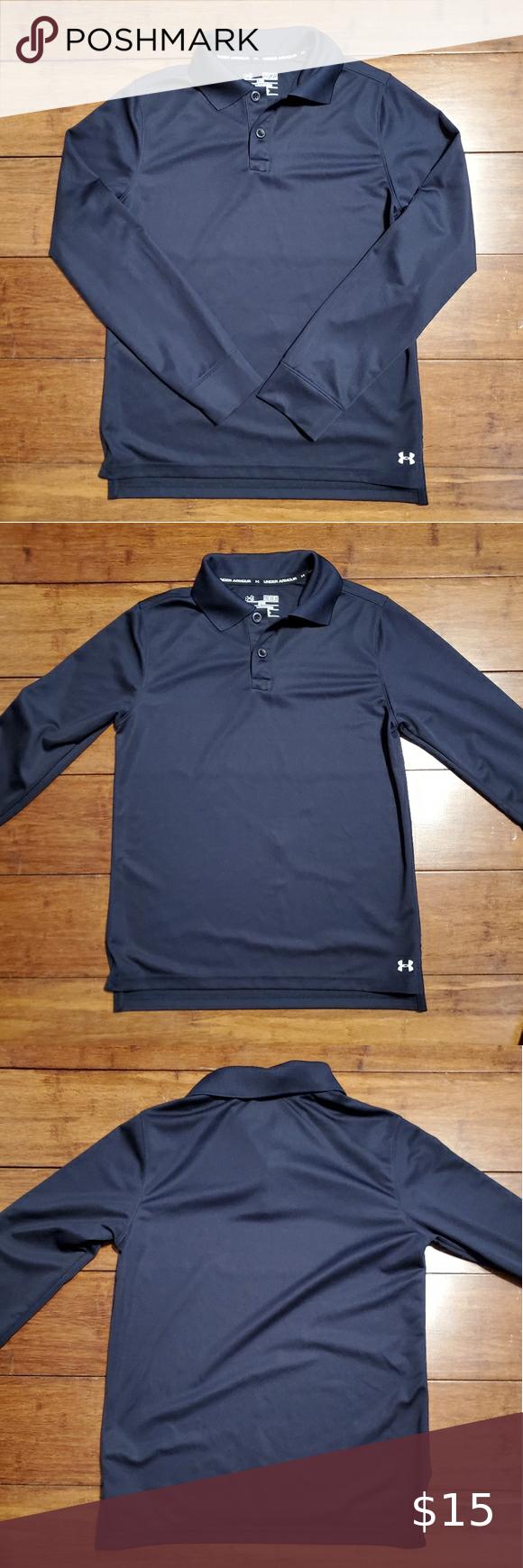 Under Armour Boys Long Sleeve Polo Shirt In 2020 Boys Long Sleeve Polo Long Sleeve Polo Shirt Clothes Design