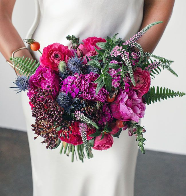 Moroccan-inspired pink bouquet