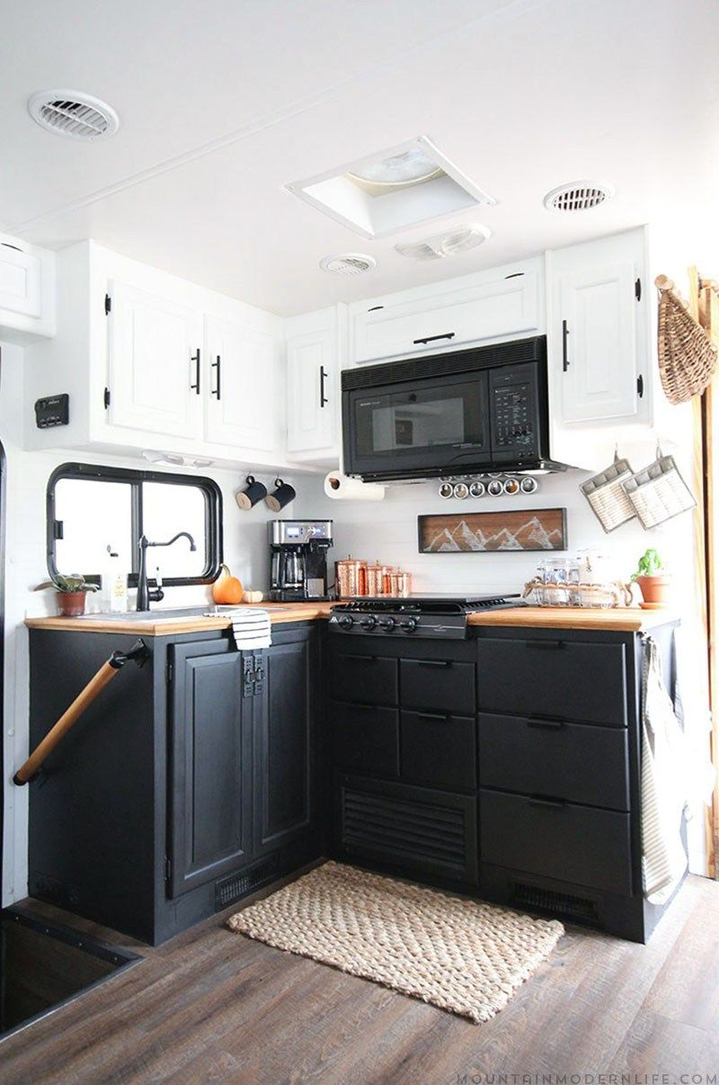 rv kitchen renovation motorhome  rv and kitchens