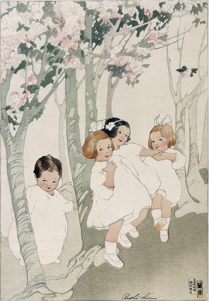 Bertha Lum (1869–1954). Cherry Blossoms, 1912.
