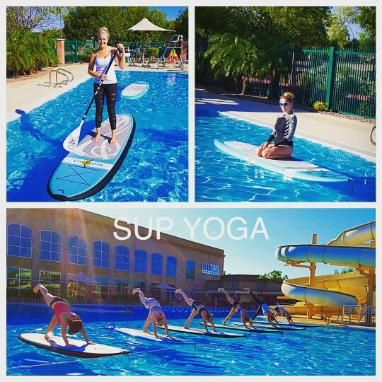 SUP Yoga Class at Lifetime Fitness Pool in Gilbert, AZ. September ...