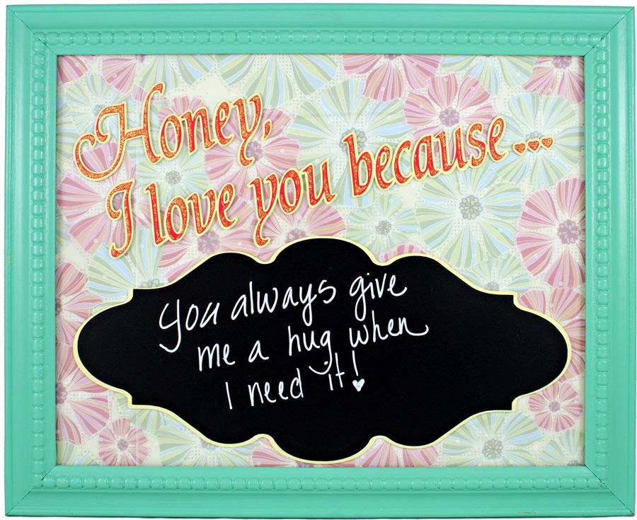 Pazzle Craft Room: Chalkboard Message Frame