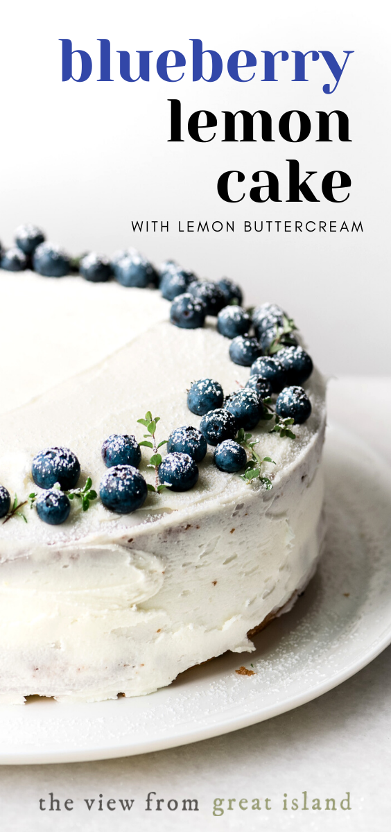 Blueberry Lemon Cake with Lemon Buttercream