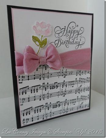 Love The Music Paper For A Birthday Card