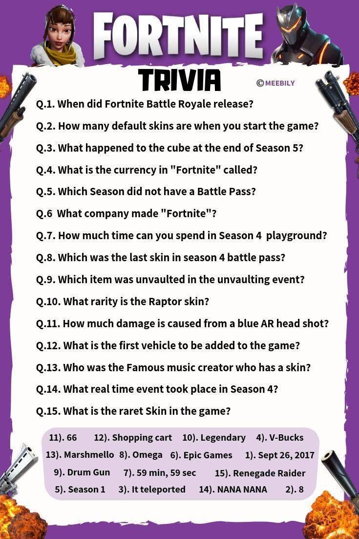 Quiz Questions 2020 Games