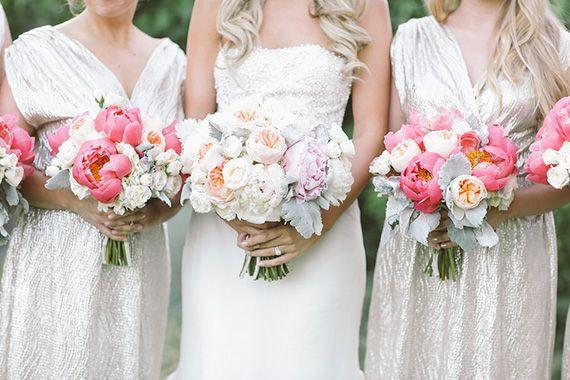 Peony bouquet | Photo by Brandon Kidd | Read more - http://www.100layercake.com/blog/?p=78718 #bridesmaid #wedding #peony