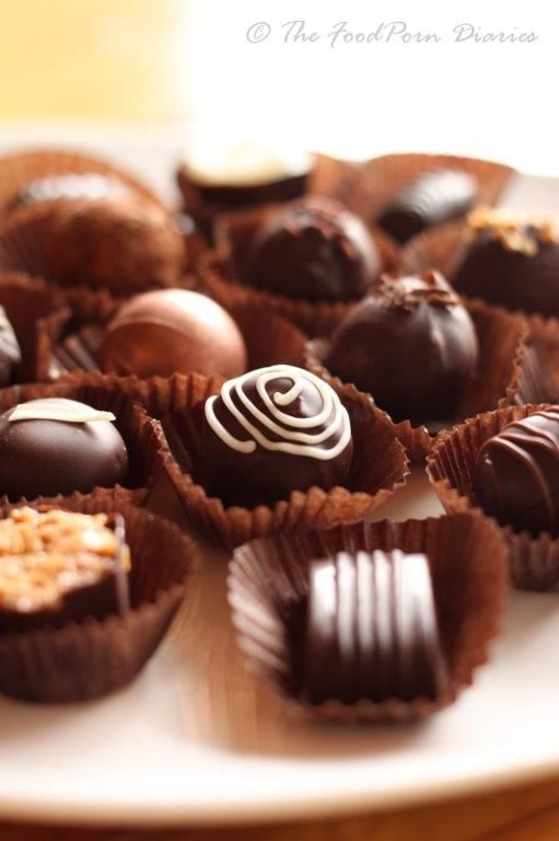 New flavors have arrived from Indulgence Chocolates chocolatier of Milwaukee. New flavors include Provencal Rooibus (cassis & dark plum), Vanilla Star Anise and Sour Cherry Espresso!